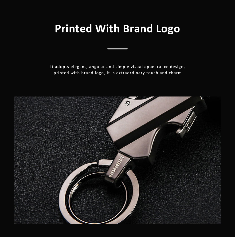 3 In 1 Classic Fashion Simple Metal Zinc Alloy Car Key Chain Bottle Opener Thousand Matches Carabiner Multifunctional Key Chain 3