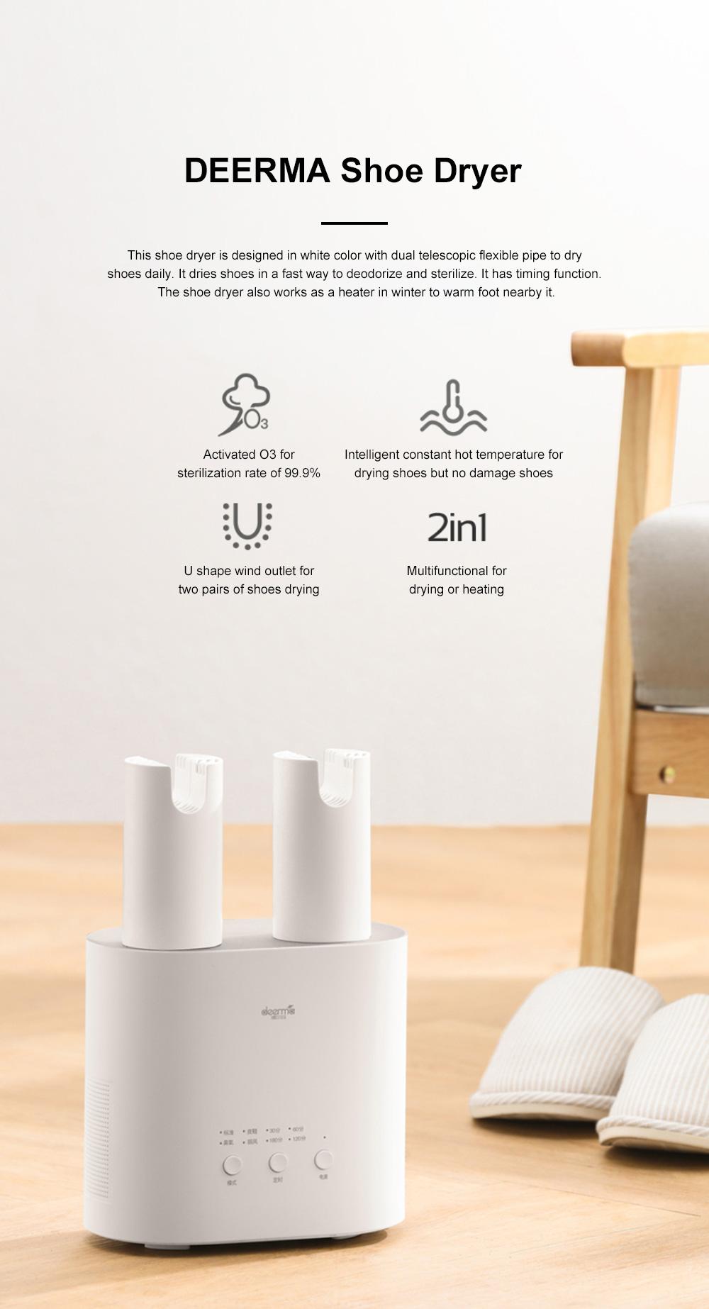 DEERMA Multiple-effect Shoe Dryer for Family Use Deodorizing and Sterilizing Drying Machine Multifunctional Telescopic Shoe Dryer 0