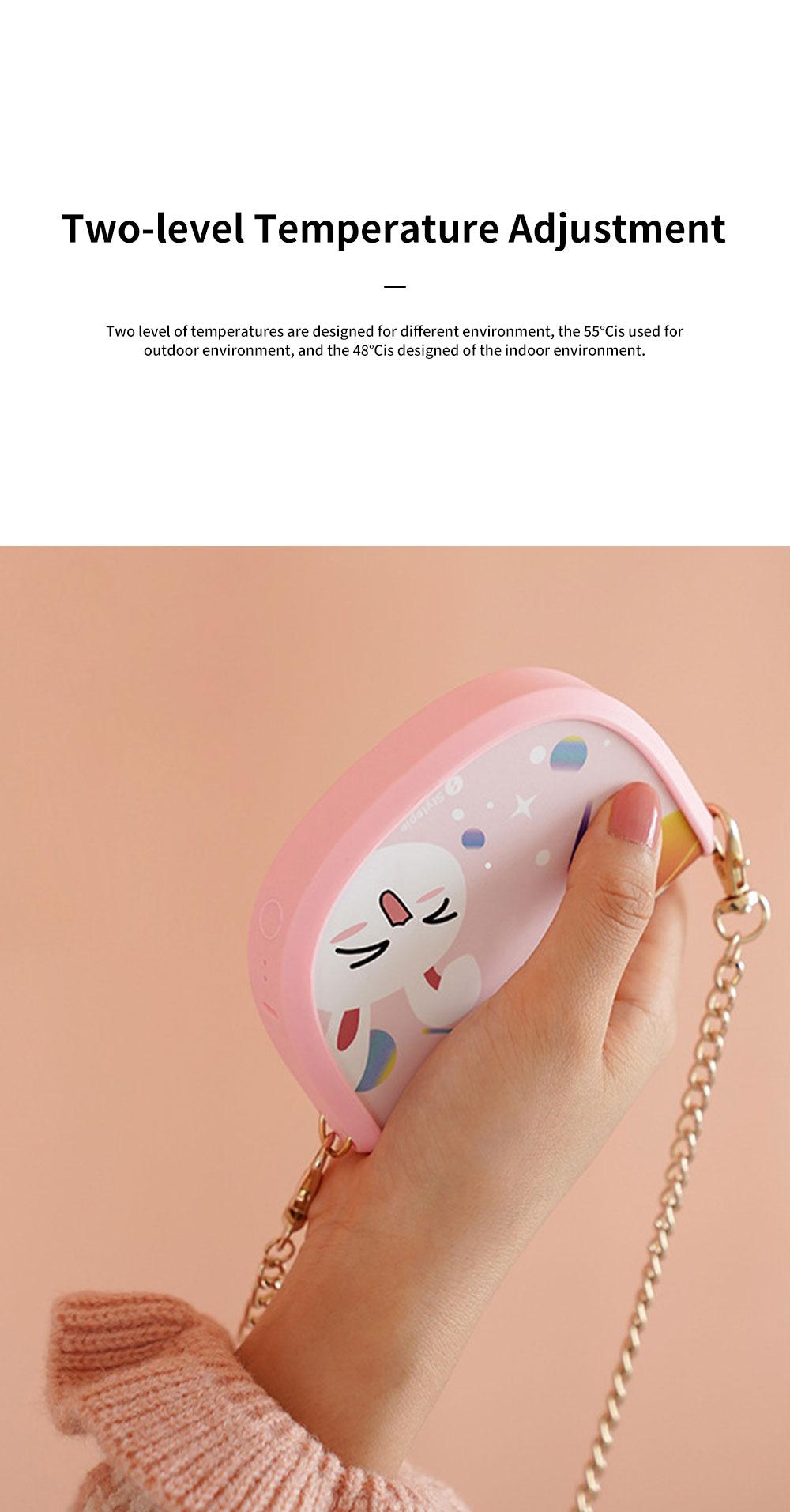 Portable Handbag Hand Warmer Unique Shoulder Bag-shaped Hands Warm Elf with 5000mAh Battery and USB Port for Phone Charging 2