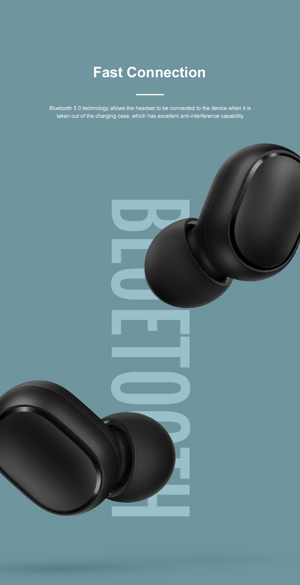 Redmi Airdots Bluetooth 5.0 Wireless Headset Fast Connecting Earphone with Charging Case and Voice Control 7
