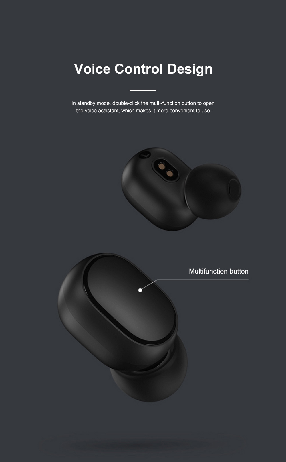 Redmi Airdots Bluetooth 5.0 Wireless Headset Fast Connecting Earphone with Charging Case and Voice Control 1