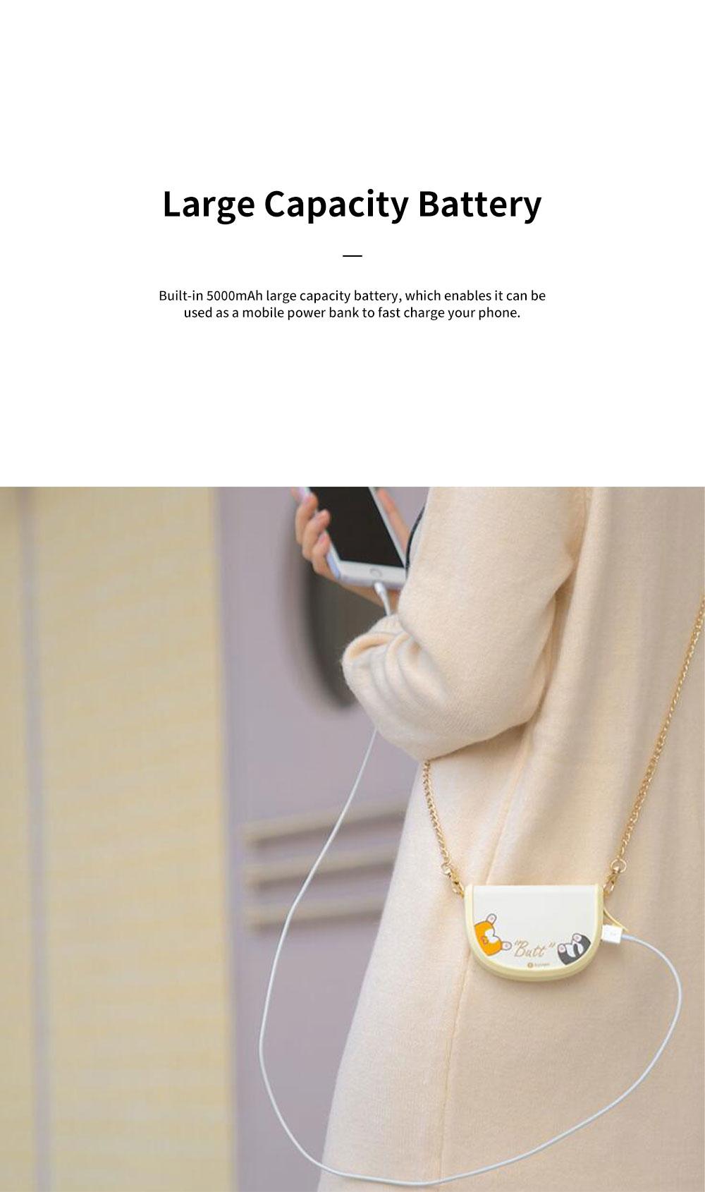 Portable Handbag Hand Warmer Unique Shoulder Bag-shaped Hands Warm Elf with 5000mAh Battery and USB Port for Phone Charging 4