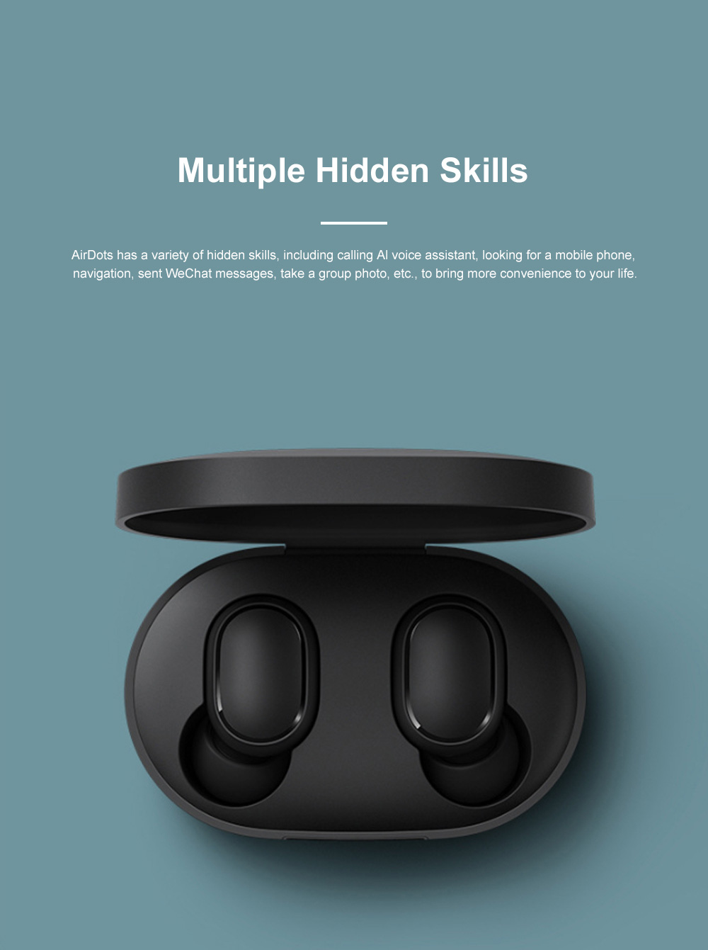 Redmi Airdots Bluetooth 5.0 Wireless Headset Fast Connecting Earphone with Charging Case and Voice Control 4