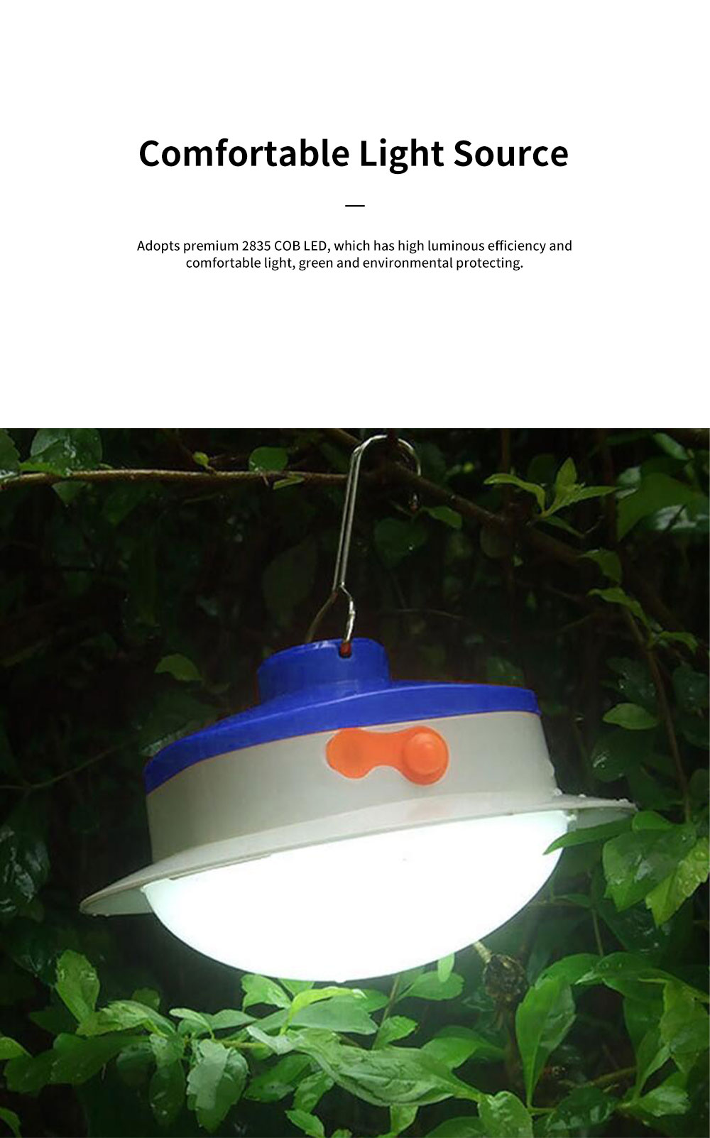 Solar IP65 Waterproof Split Lamp Outdoor Spotlight with 2200mAh Lithium Battery for Courtyard Lawn Wall Lighting 2