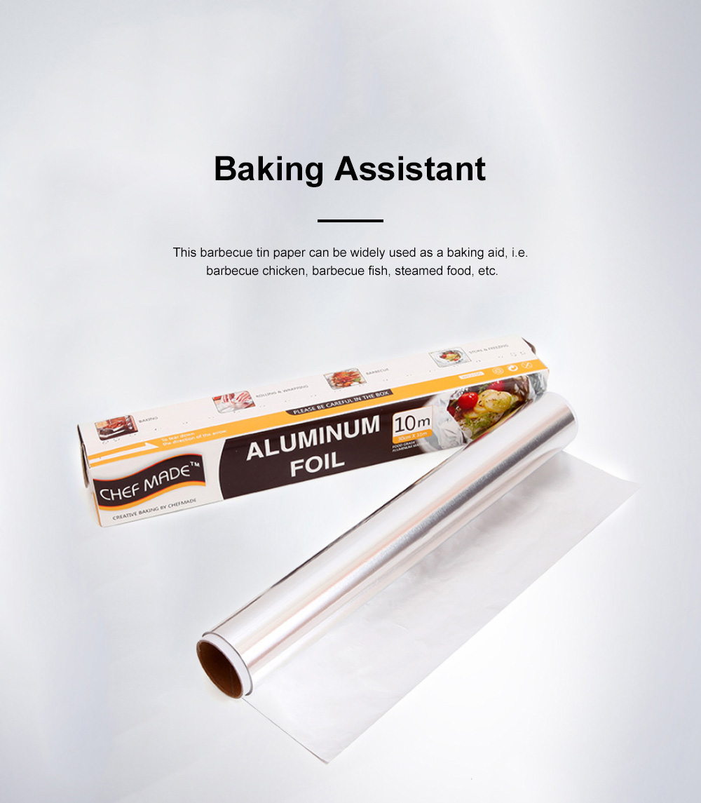 Chefmade Tin Paper Barbecue Cooking Western Dim Sum Tin Paper Barbecue Tin Foil Paper Aluminum Foil Paper 2