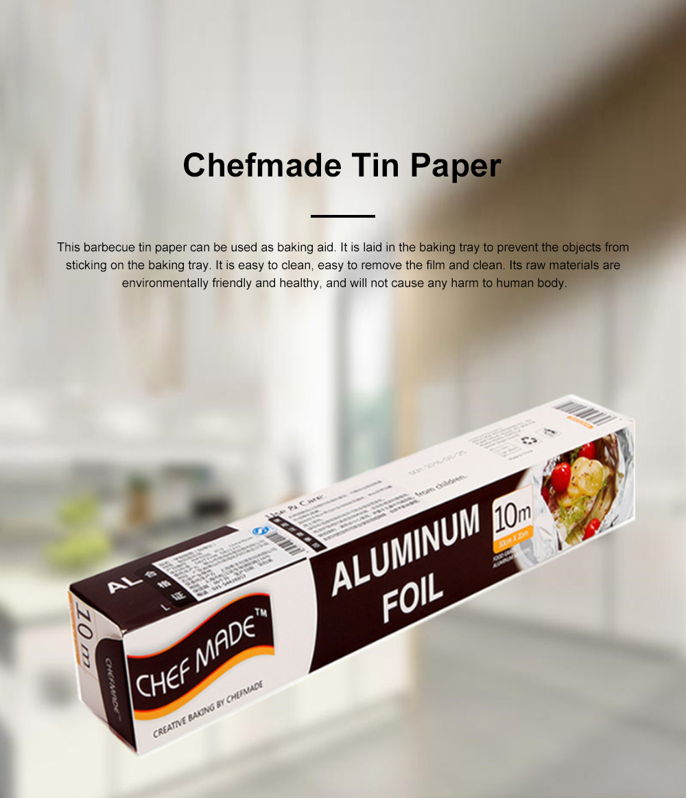 Chefmade Tin Paper Barbecue Cooking Western Dim Sum Tin Paper Barbecue Tin Foil Paper Aluminum Foil Paper 0