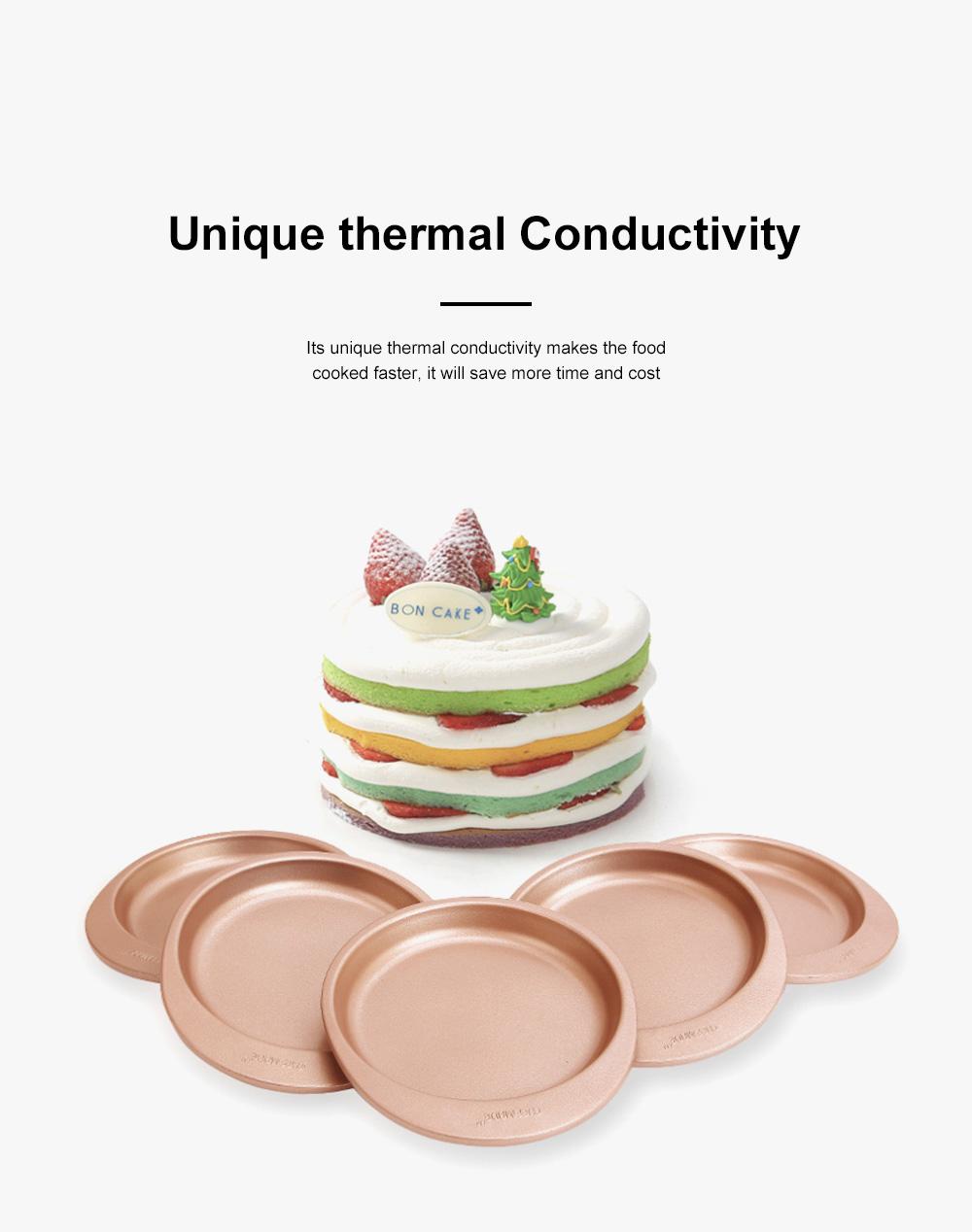 Chefmade Silicone Rainbow Cake Mould Bakeware Round DIY Baking Pan Silicone Cake Pans For Baking 5pcs 4