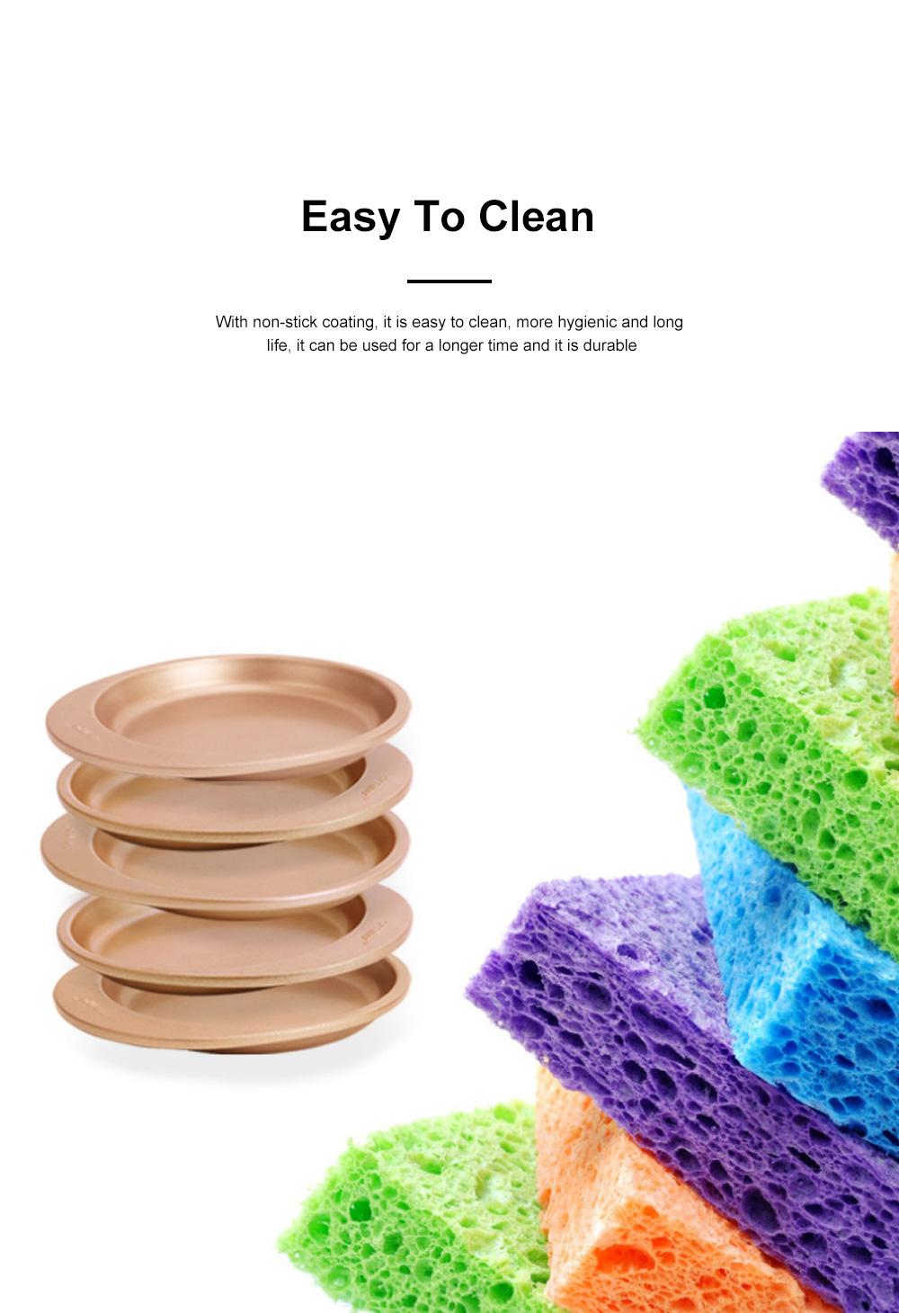 Chefmade Silicone Rainbow Cake Mould Bakeware Round DIY Baking Pan Silicone Cake Pans For Baking 5pcs 3