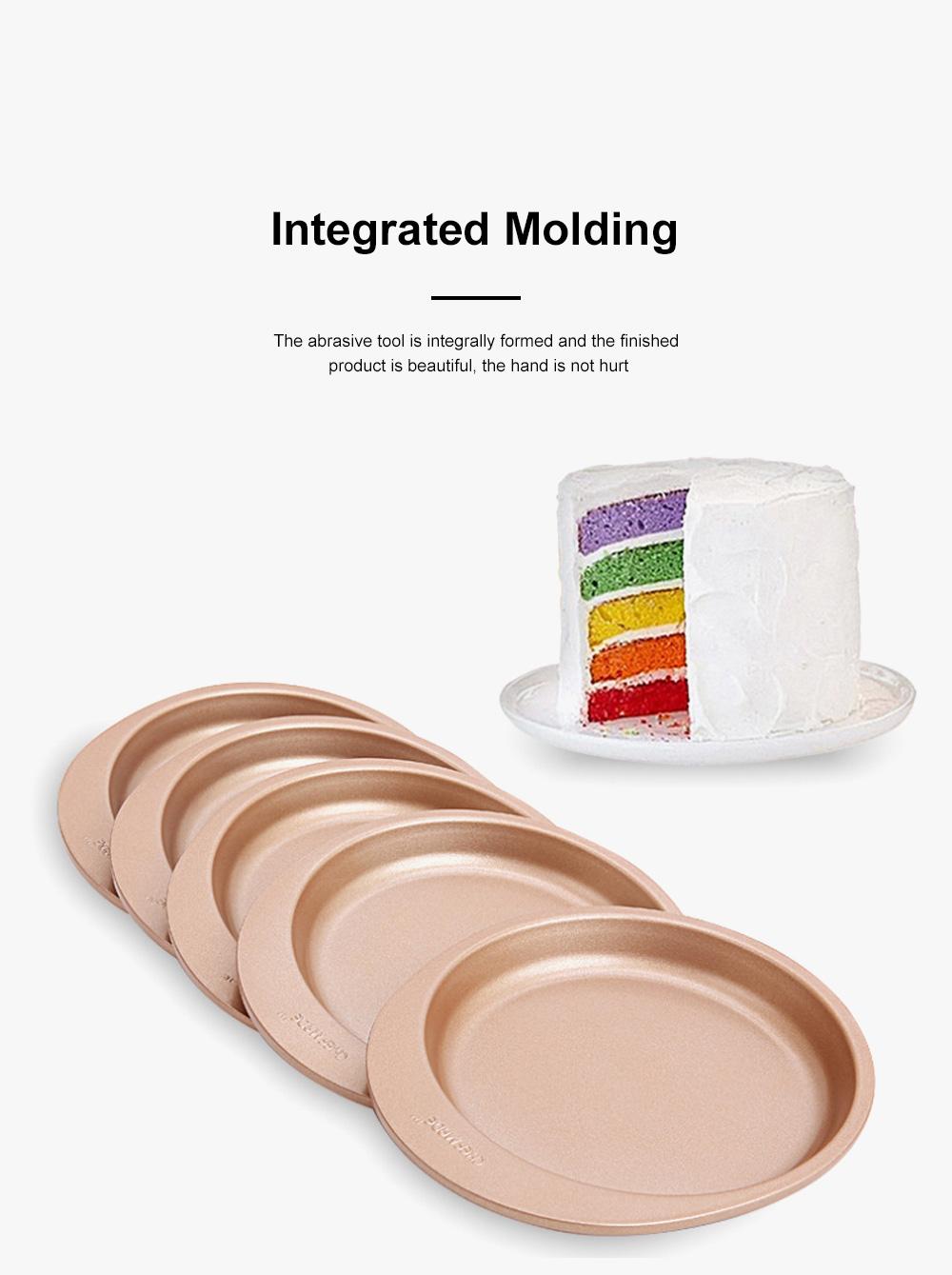 Chefmade Silicone Rainbow Cake Mould Bakeware Round DIY Baking Pan Silicone Cake Pans For Baking 5pcs 2