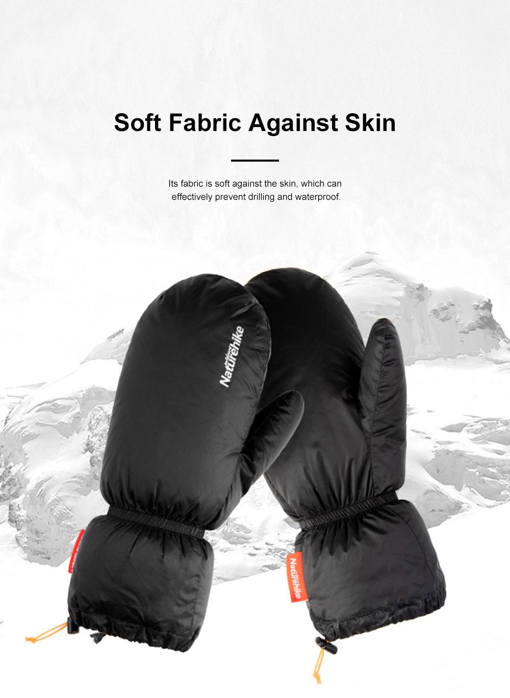 Naturehike White Velvet Gloves Outdoor Gloves Warm Winter Gloves Ski Cold Proof Mittens 1