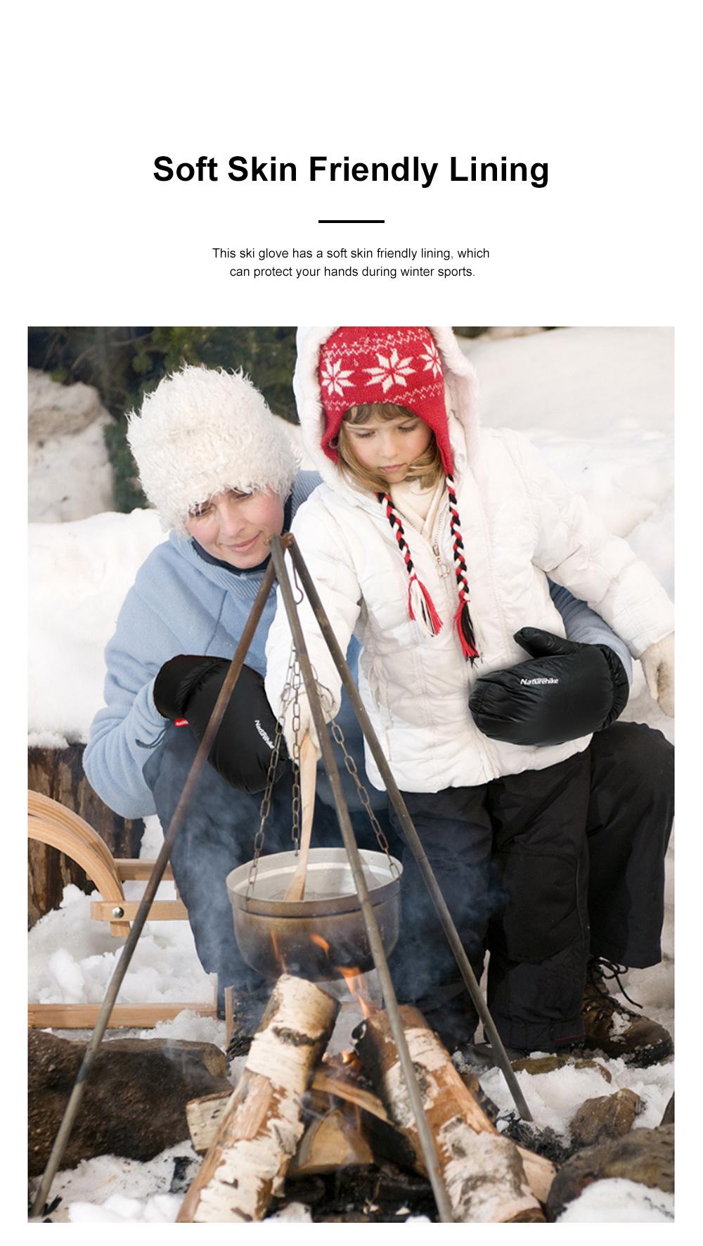 Naturehike White Velvet Gloves Outdoor Gloves Warm Winter Gloves Ski Cold Proof Mittens 5