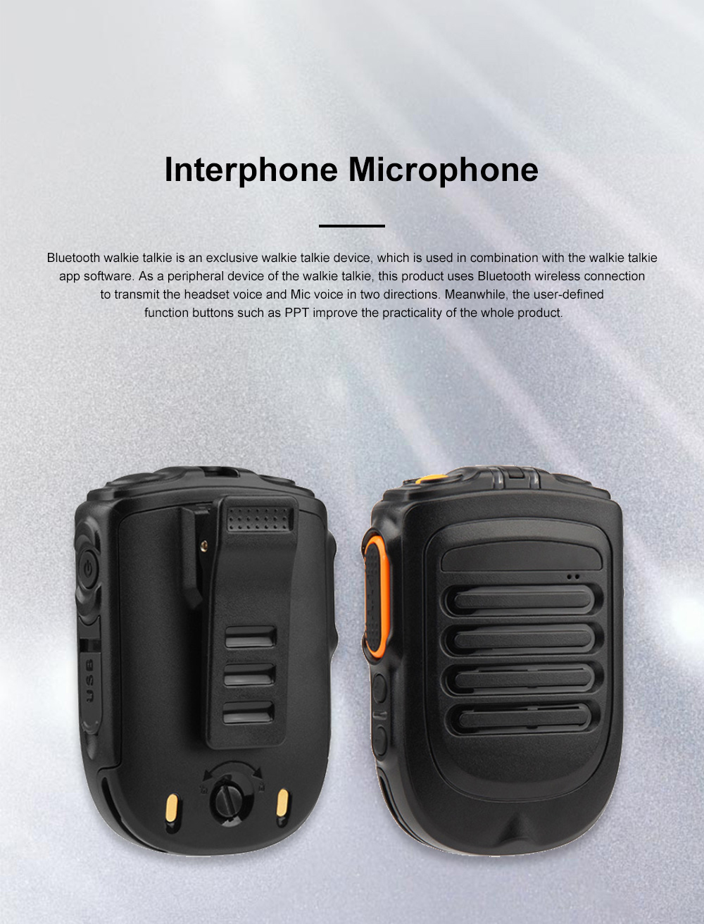 Interphone Microphone Android IOS Mobile Phone Bluetooth Headset Wireless Interphone Handset ZELLO Public Network Portable Walkie Talkie 0