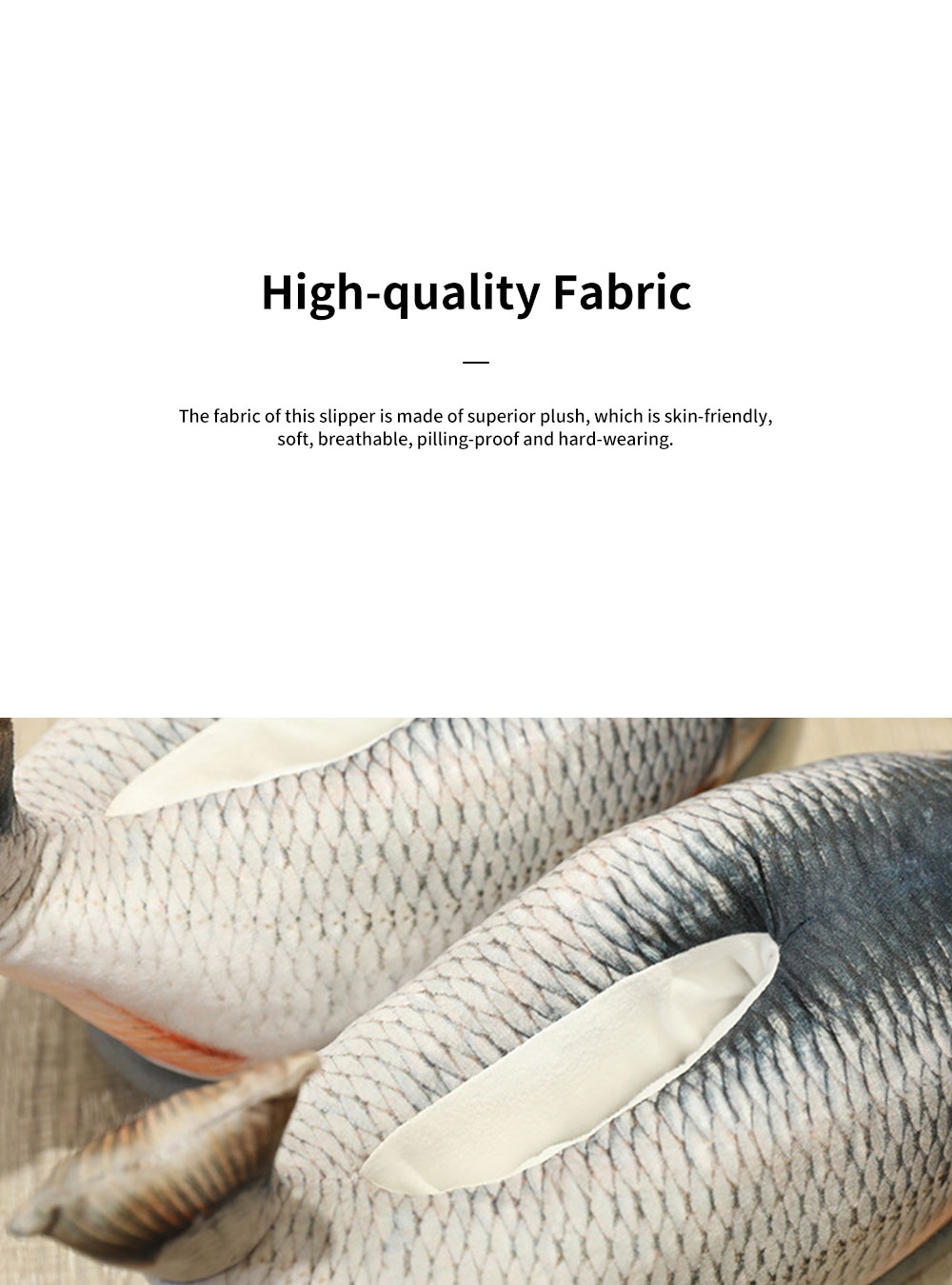 Creative Cute Funny Fish Model Cotton Indoor Slippers Pantofle Winter Autumn Warm Household Shoes 1
