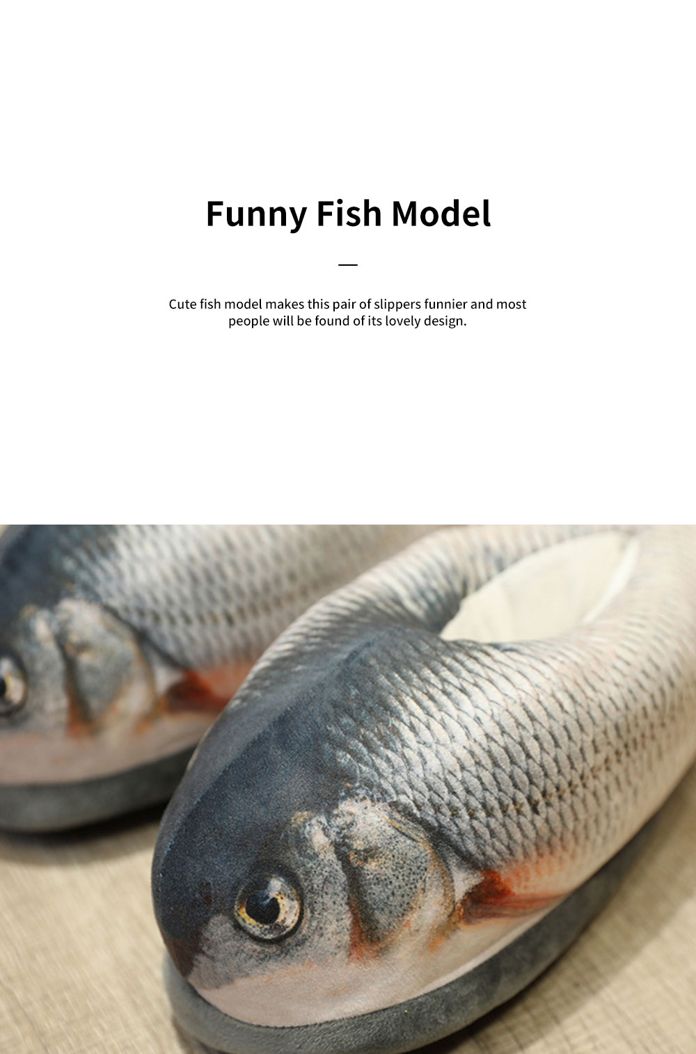 Creative Cute Funny Fish Model Cotton Indoor Slippers Pantofle Winter Autumn Warm Household Shoes 3