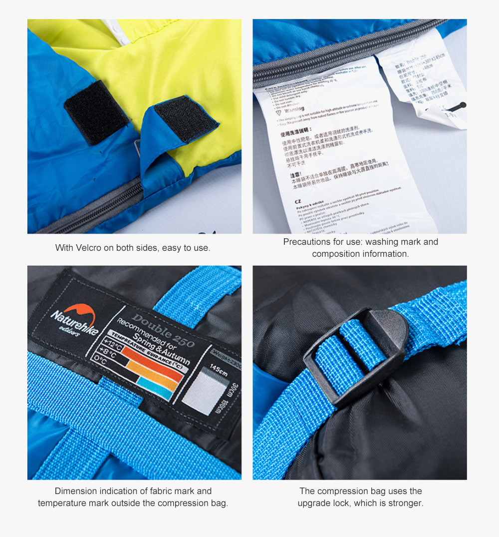Naturehike Sleeping Bag for Two Adult Outdoor Camping Tent Cotton Sleeping Bag for Lunch Break in Four Seasons Office 8