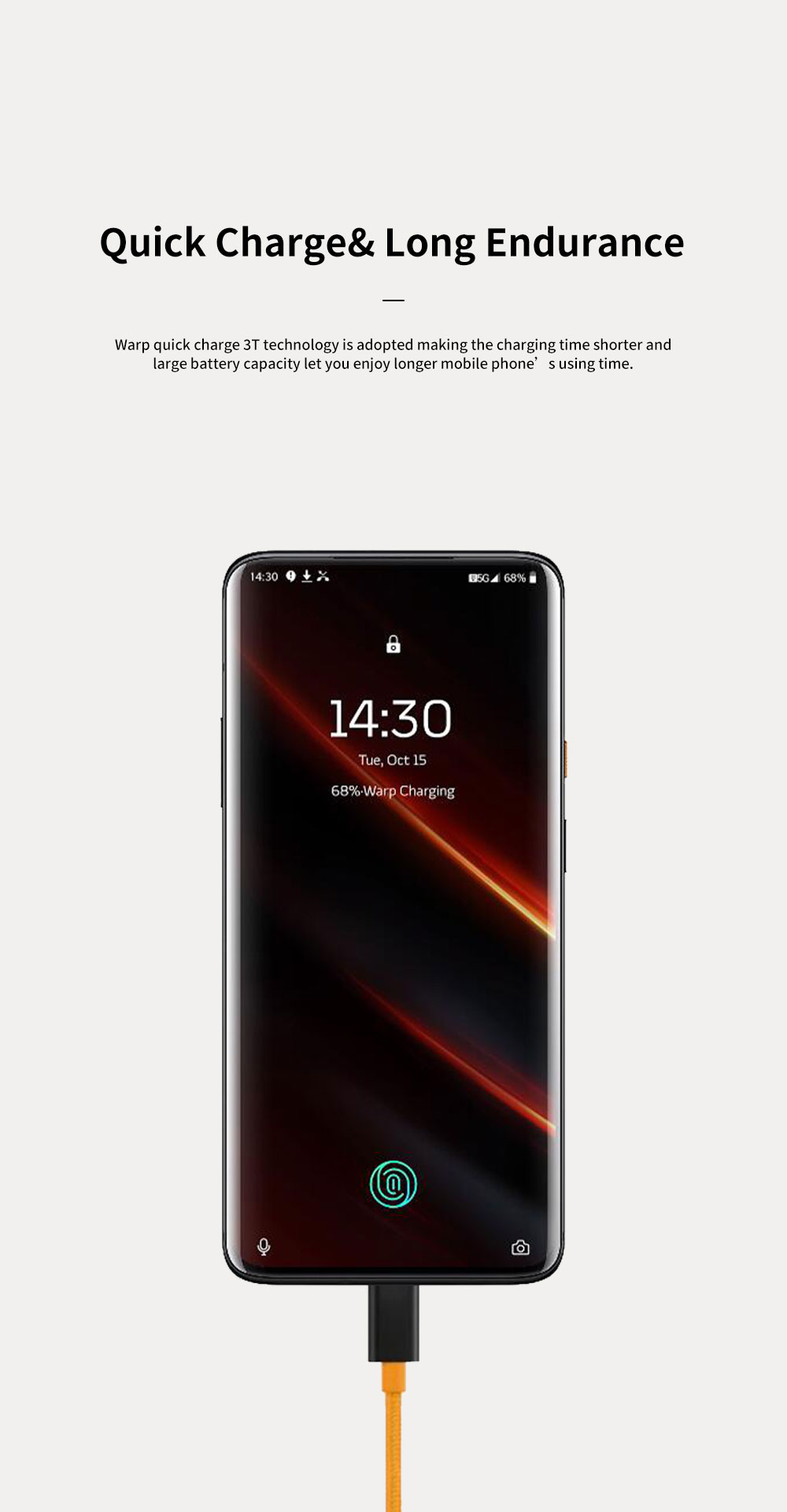 OnePlus 7T Pro Mobile Phone Smartphone with 2K+90Hz Screen 855 Snapdragon Processor 48 Million Camera Large Battery Capacity Haptic Vibrating Motor 10