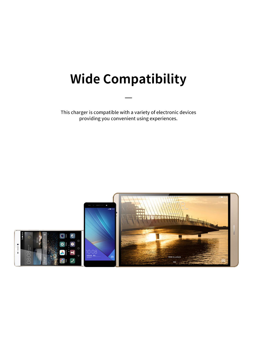 Light Portable Super Quick Charging Wide Compatibility Original Huawei Charger with 8 Protections 6-Level Energy Efficiency Standard 2