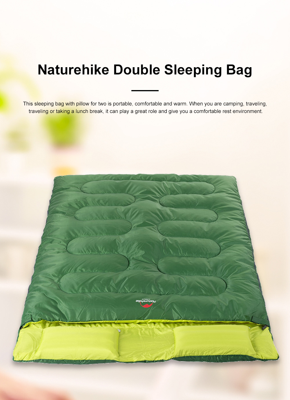 Naturehike Sleeping Bag for Two Adult Outdoor Camping Tent Cotton Sleeping Bag for Lunch Break in Four Seasons Office 0