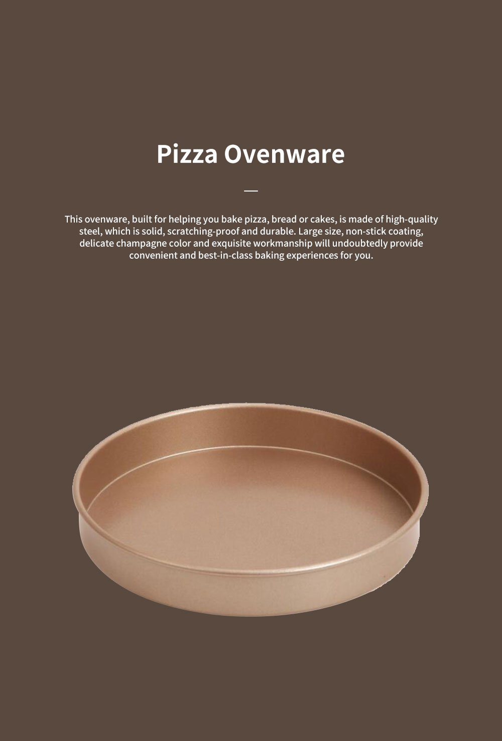 Chefmade Delicate Champagne 6-inch Non-stick Pizza Bread Baking Pan Cake Mould Ovenware Steel Bakeware Kitchen Assistant Tool 0