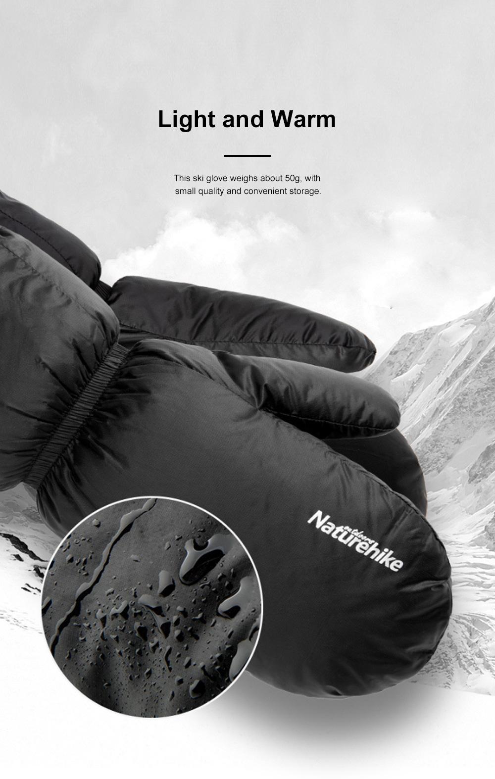 Naturehike White Velvet Gloves Outdoor Gloves Warm Winter Gloves Ski Cold Proof Mittens 3