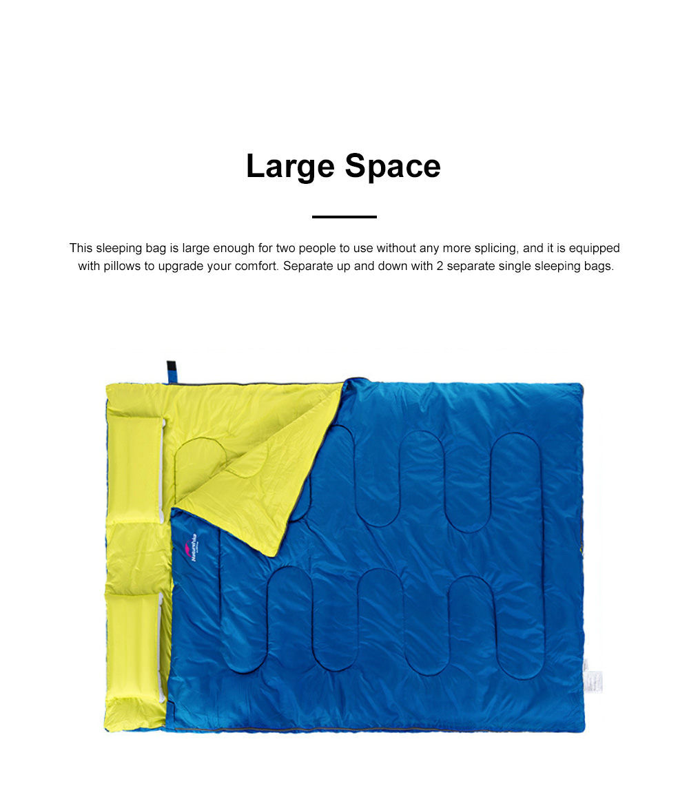 Naturehike Sleeping Bag for Two Adult Outdoor Camping Tent Cotton Sleeping Bag for Lunch Break in Four Seasons Office 1