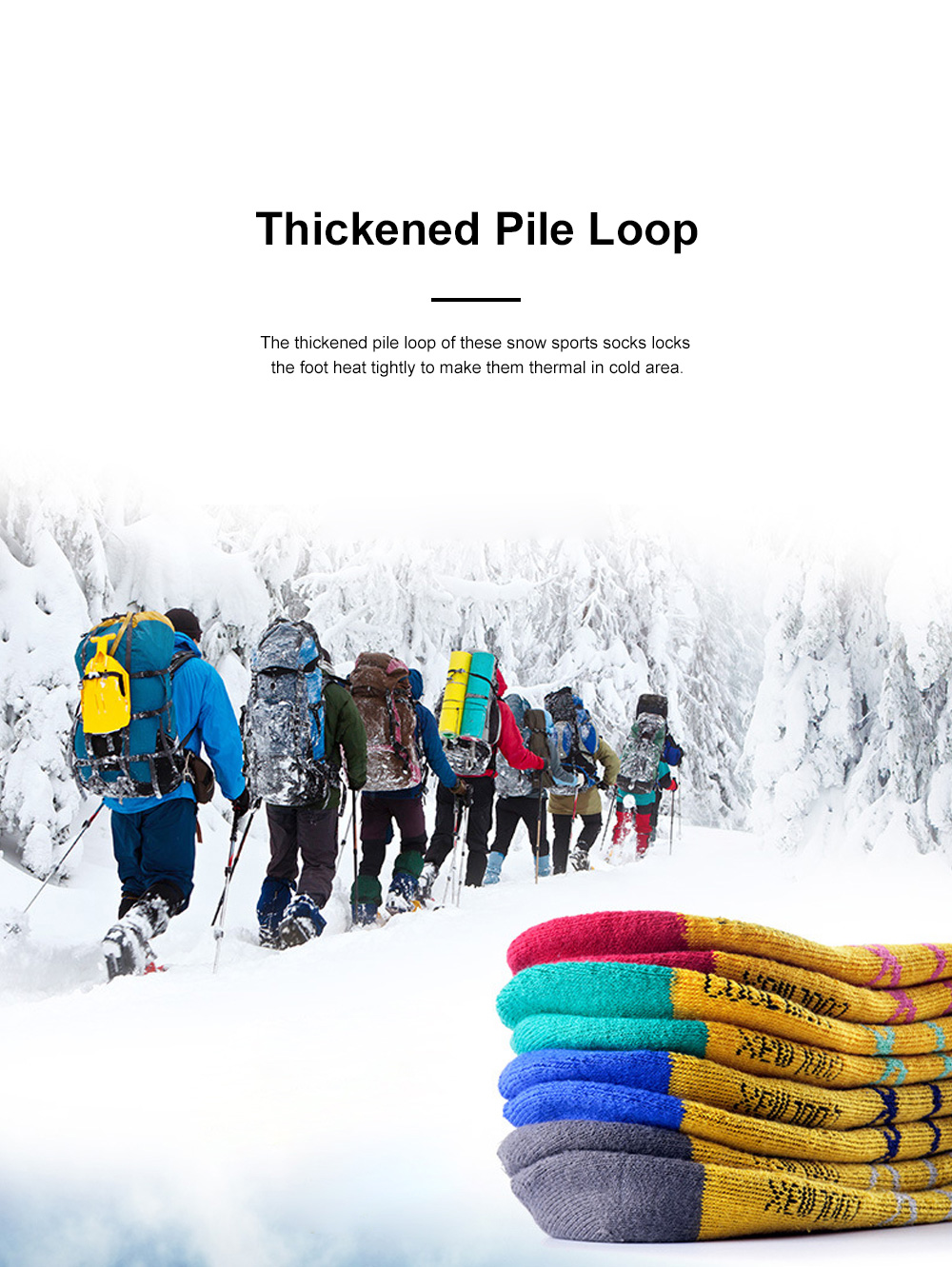 Naturehike Outdoor Snow Sports Socks for Climbing Cold Area Travelling Coolmax Quick-dry Socks Comfortable Thermal Socks 1