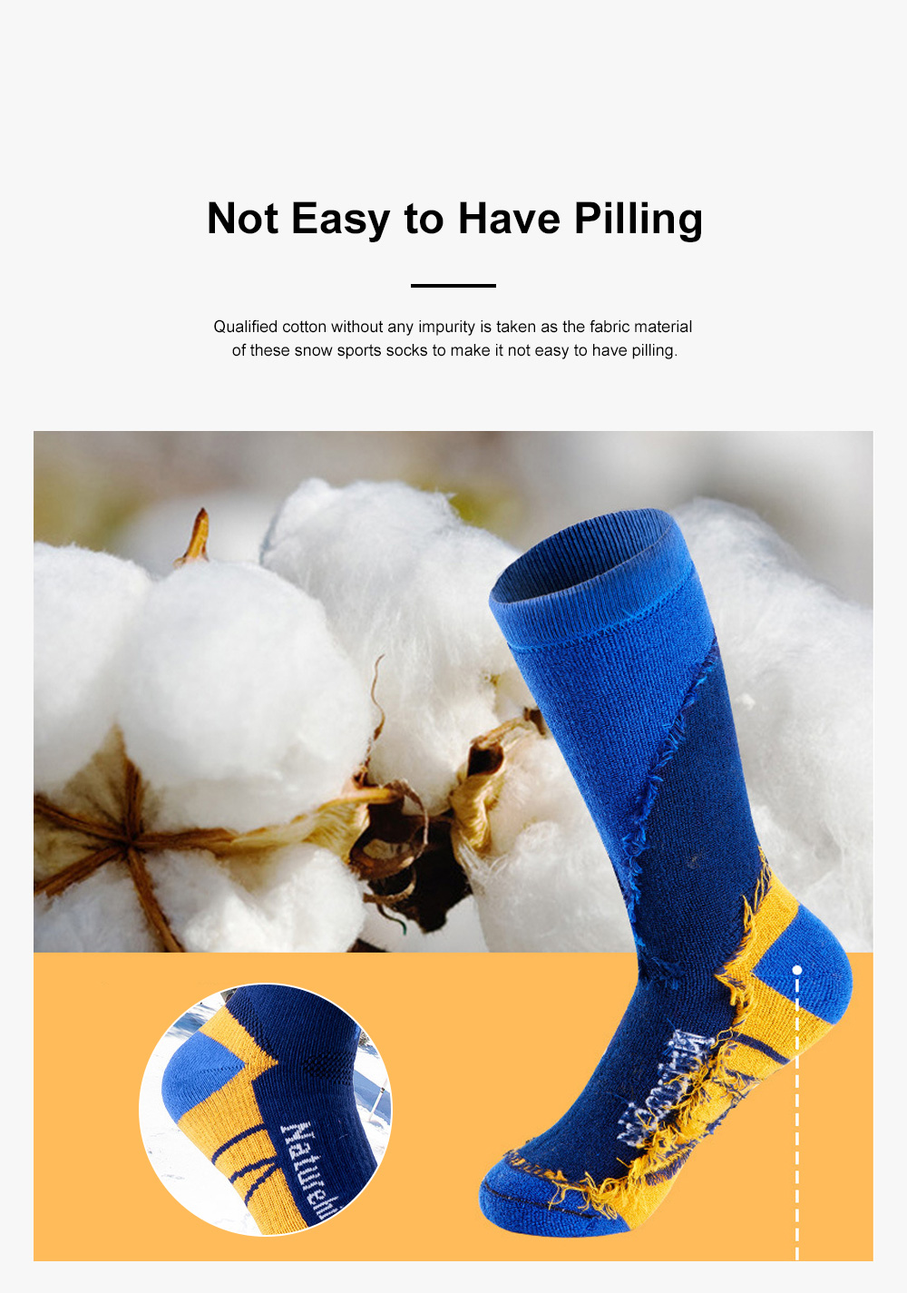 Naturehike Outdoor Snow Sports Socks for Climbing Cold Area Travelling Coolmax Quick-dry Socks Comfortable Thermal Socks 4