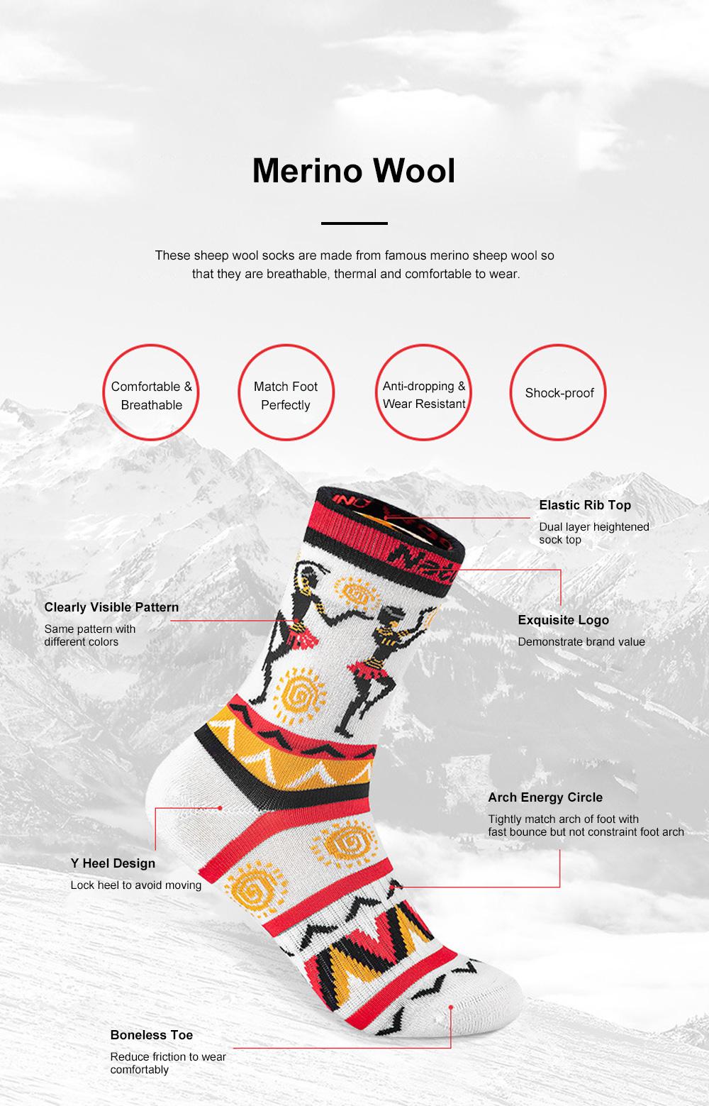 Naturehike Travelling Socks for Multiple Outdoors Activities Merino Sheep Wool Socks Breathable and Moisture-wicking Sports Socks 2