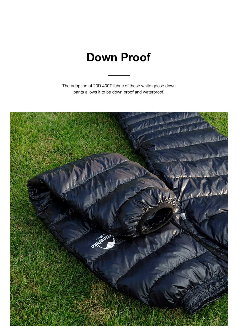 Naturehike White Goose Down Pants for Winter Sports Waterproof Thermal Winter Trousers Windproof Down Wadded Trousers Down Pants 3
