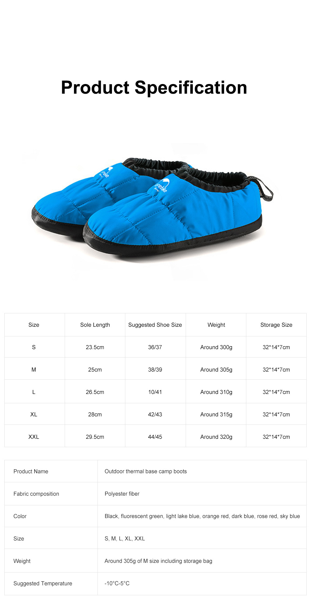 Naturehike Camp Base Boots for Home Outdoors Use Thermal Breathable Camp Shoes Waterproof Lightweight Fabric Camp Shoes 6