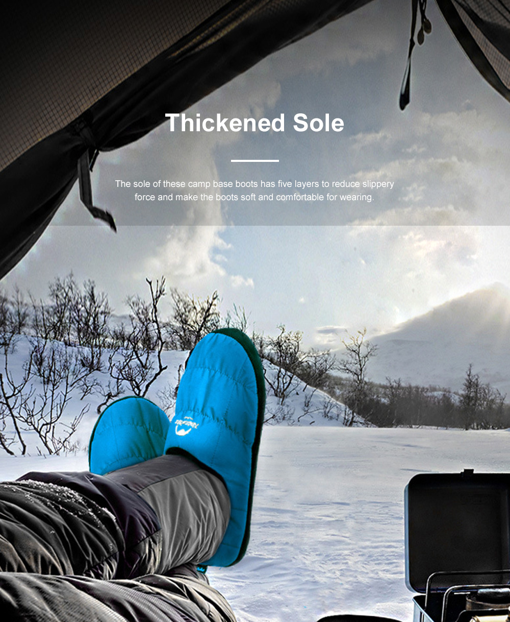 Naturehike Camp Base Boots for Home Outdoors Use Thermal Breathable Camp Shoes Waterproof Lightweight Fabric Camp Shoes 3