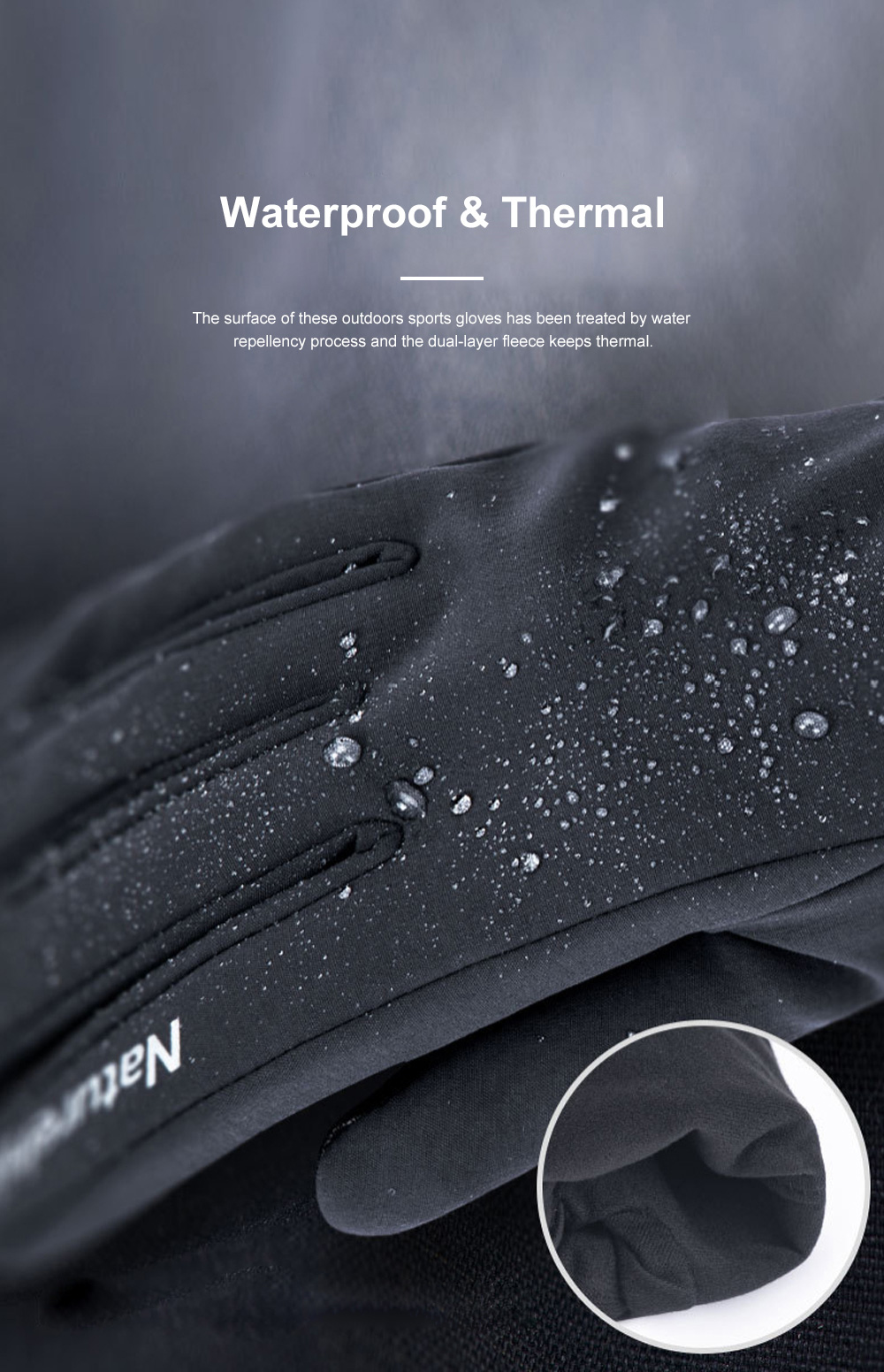 Naturehike Warm Gloves for Outdoors Running Hiking Waterproof Thermal Sports Gloves Touch Screen Designed Gloves 1