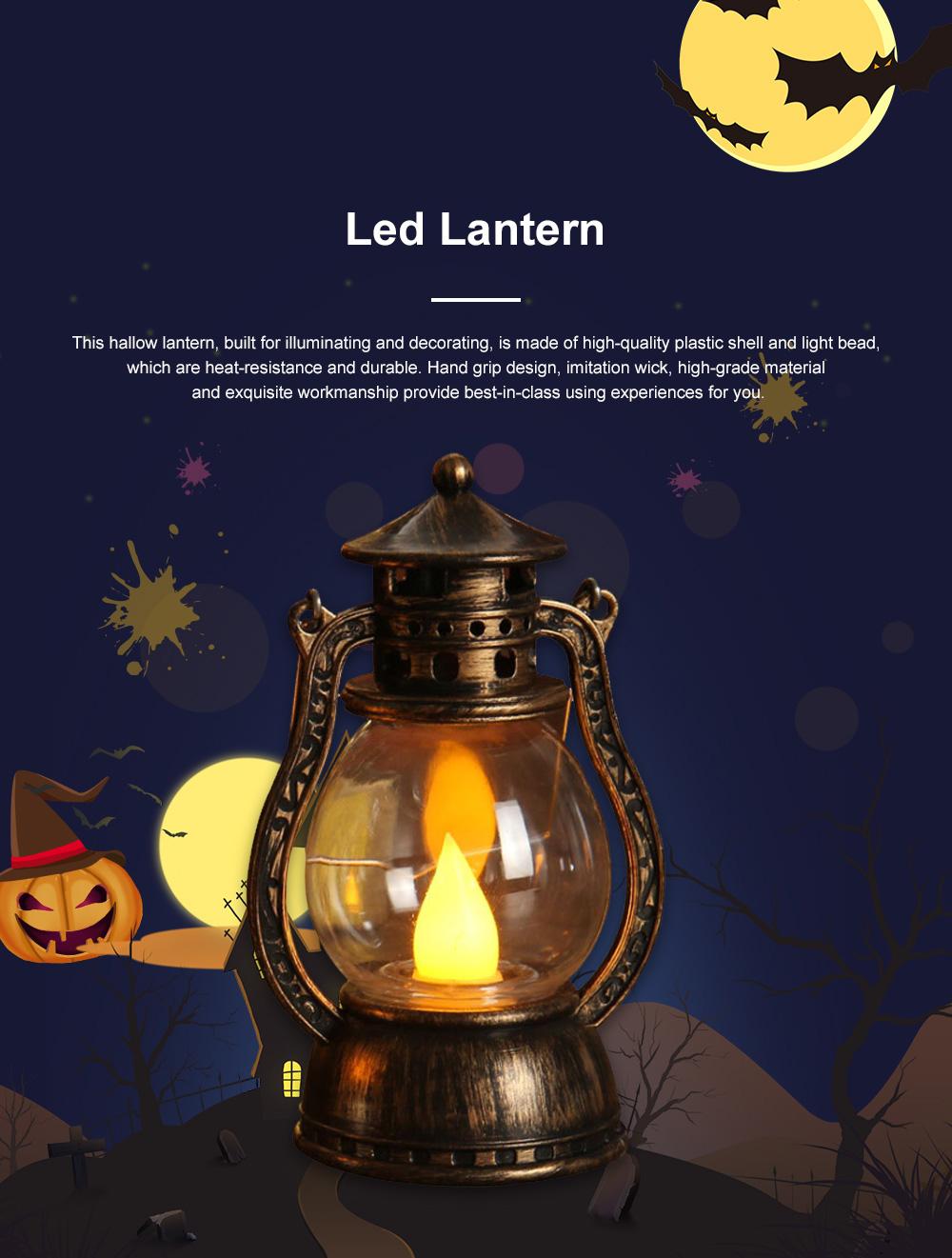 Vintage Stylish Decoration Lantern LED Light with Imitation Wick Creative Bar Courtyard Lamp New Year Ornament 0