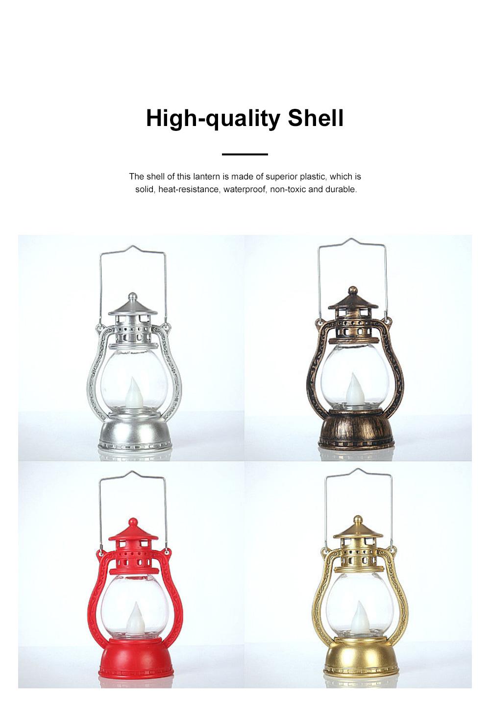 Vintage Stylish Decoration Lantern LED Light with Imitation Wick Creative Bar Courtyard Lamp New Year Ornament 1