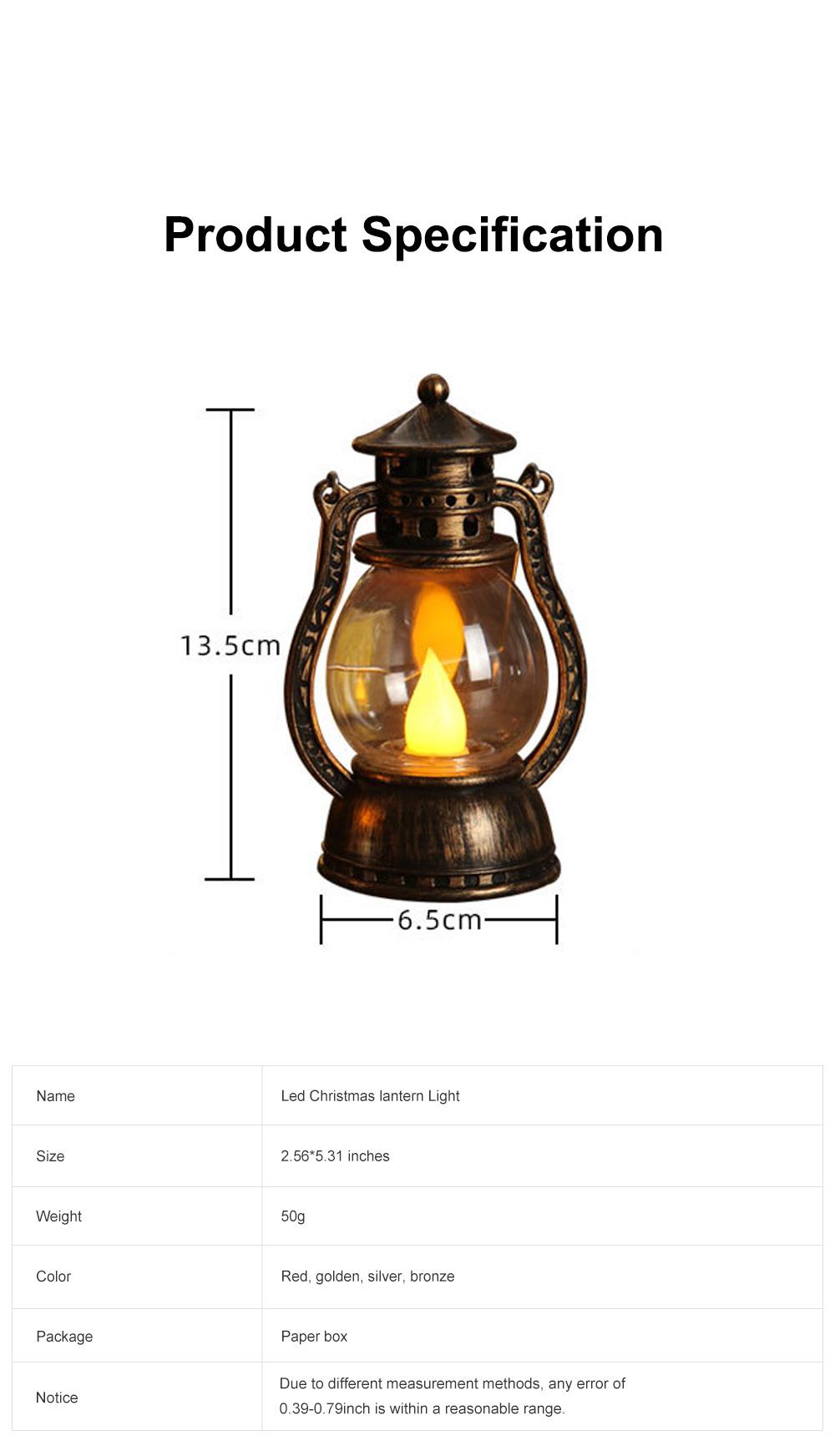 Vintage Stylish Decoration Lantern LED Light with Imitation Wick Creative Bar Courtyard Lamp New Year Ornament 5