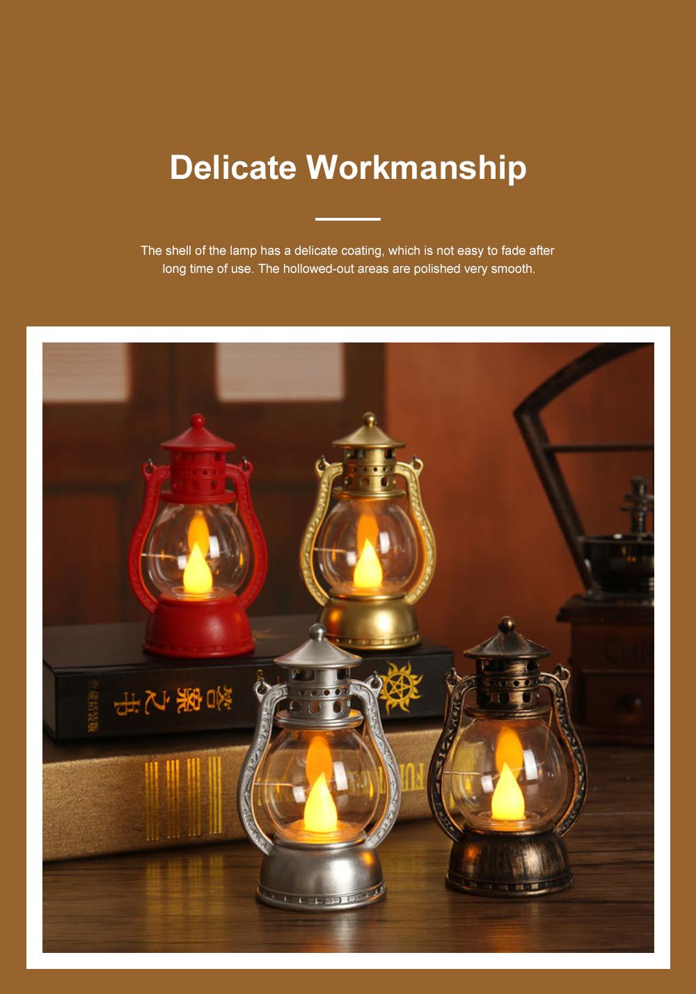 Vintage Stylish Decoration Lantern LED Light with Imitation Wick Creative Bar Courtyard Lamp New Year Ornament 2