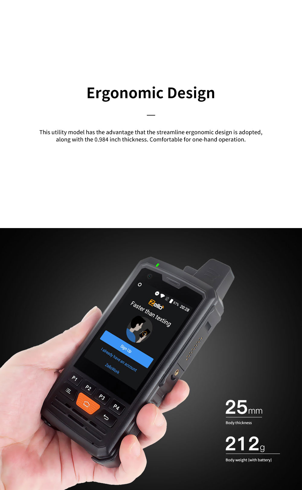 4G PPT Smart Interphone Zella Intercom Phone Device Android 6.0 Available for 2G, 3G, 4G and WIFI Connection 7