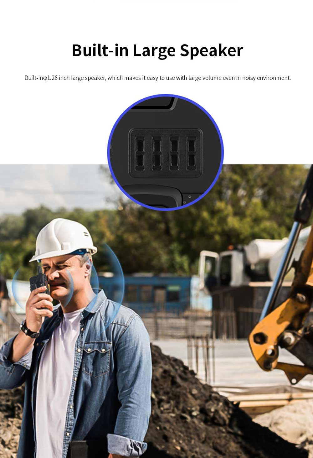UNIWA F22 Rechargeable 4G Two-Way Radios Walkie Talkies 4000mAh Battery Powered 2.4 Inch Screen GPS Android Smart PPT Intercom Phone 7