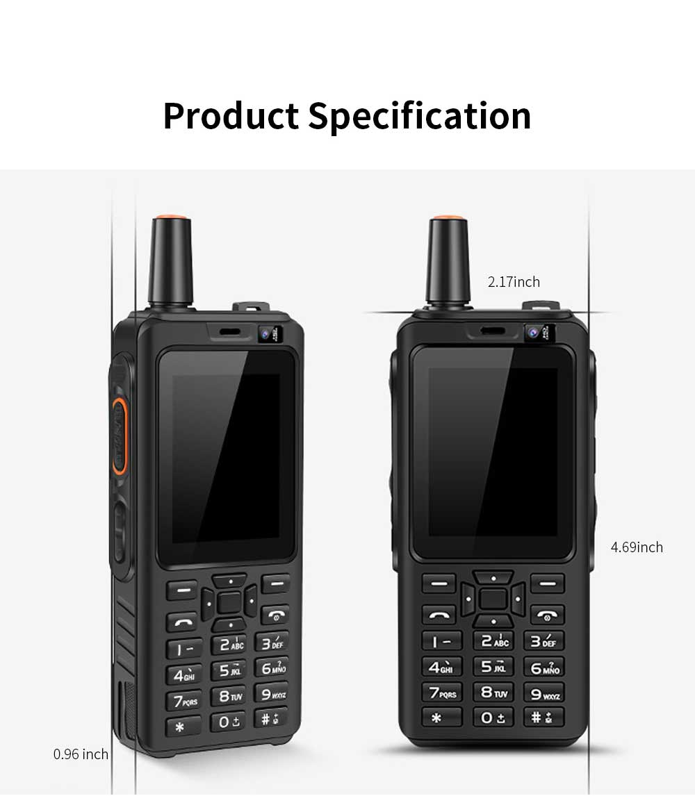 UNIWA F22 Rechargeable 4G Two-Way Radios Walkie Talkies 4000mAh Battery Powered 2.4 Inch Screen GPS Android Smart PPT Intercom Phone 9