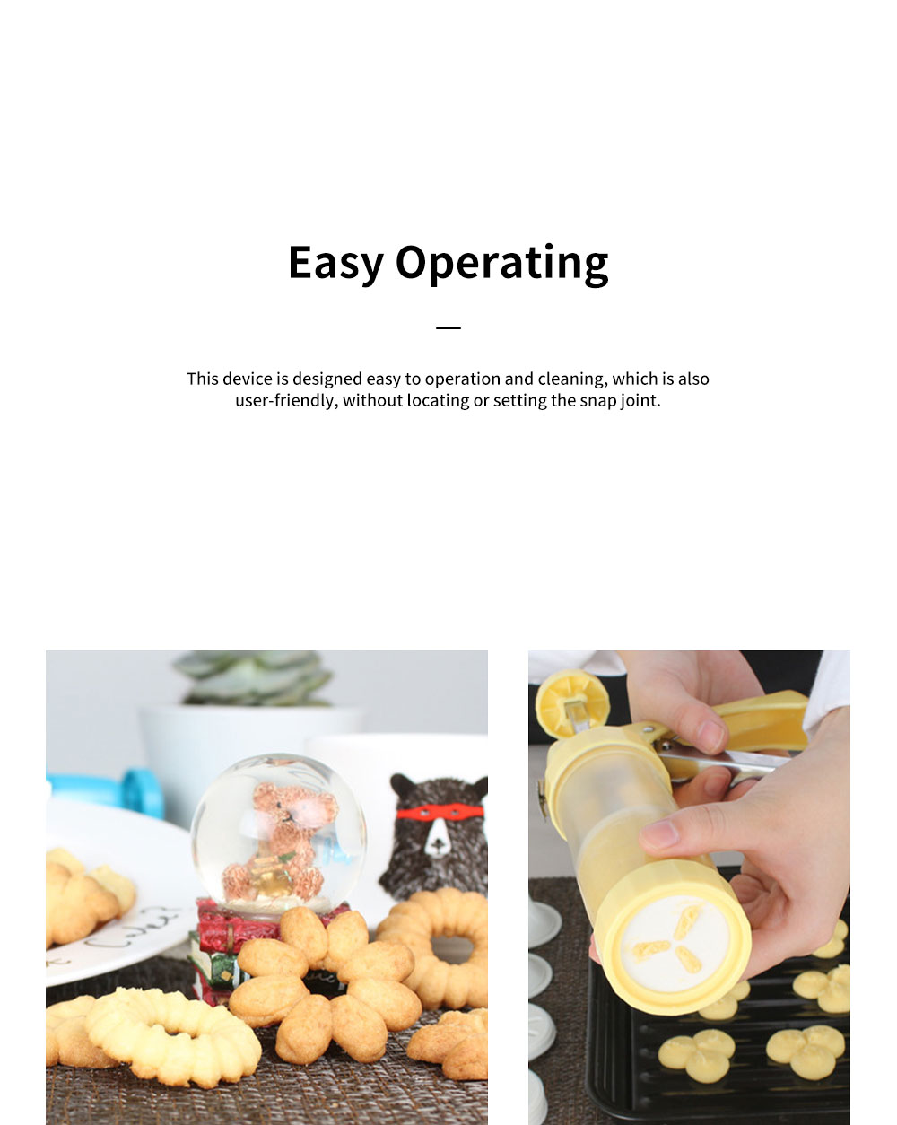 High Quality Stainless Steel Biscuit Machine with Sixteen Flower Pieces Six Decorating Mouth Multi-functional Machine for Cookie Baking 7