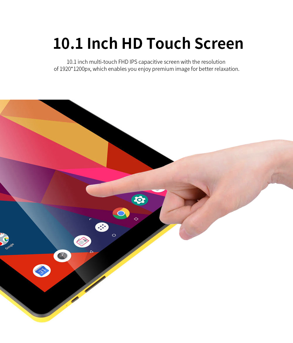 10.1 Inch Tablet PC Android 8.1 Dual Camera and USB 2GB RAM 16GB ROM Touchscreen Wifi Bluetooth Tablet with 6000mAh Battery 5