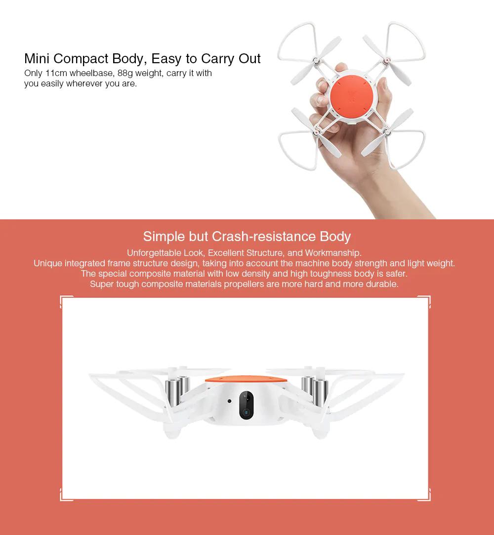 Xiaomi Portable Functional Quadcopter with Mini RC Drone WiFi FPV 720P HD Camera Headless Mode Precision Hover White 5