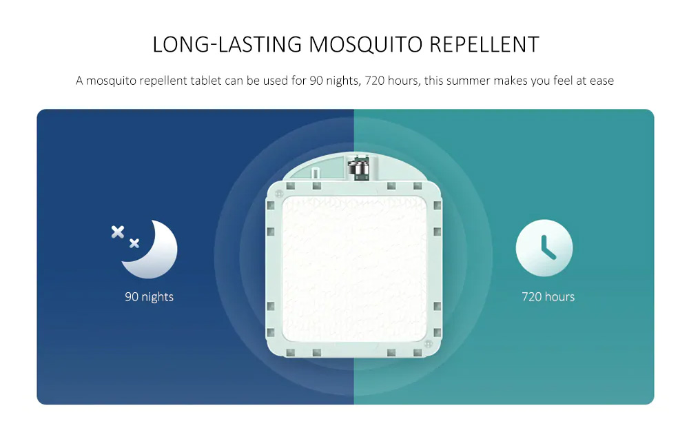 Xiaomi Portable Intelligent Smart Mijia Mosquito Repellent Device with Physical Mosquito Killing Easy Operation Long-lasting Battery Type 3