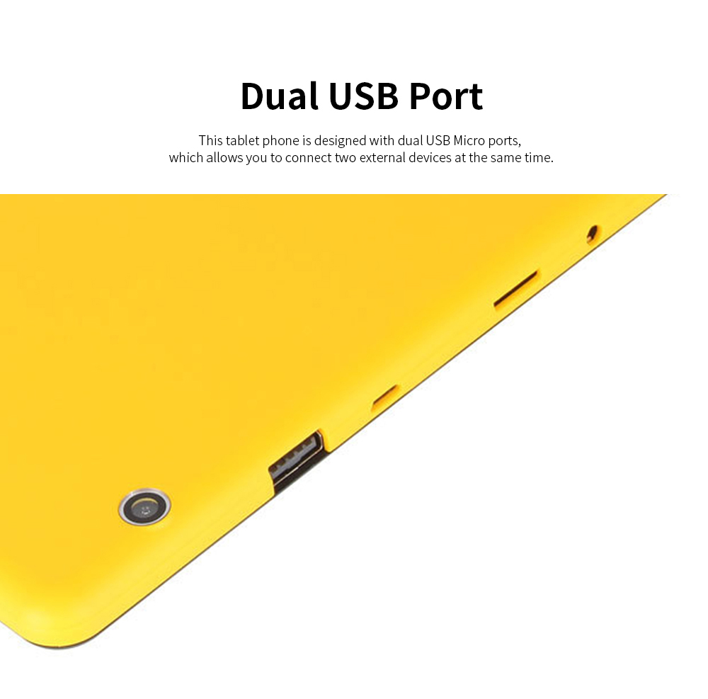 10.1 Inch Tablet PC Android 8.1 Dual Camera and USB 2GB RAM 16GB ROM Touchscreen Wifi Bluetooth Tablet with 6000mAh Battery 2