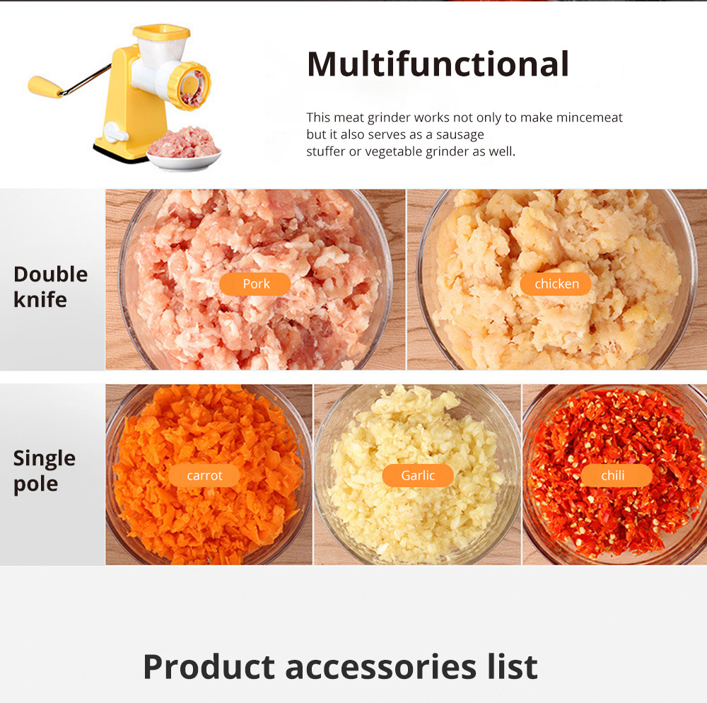 Manual Meat Grinder for Kitchen Use Easy to Operate Mincing Machine Multifunctional Meat Mincer Sausage Stuffer 5