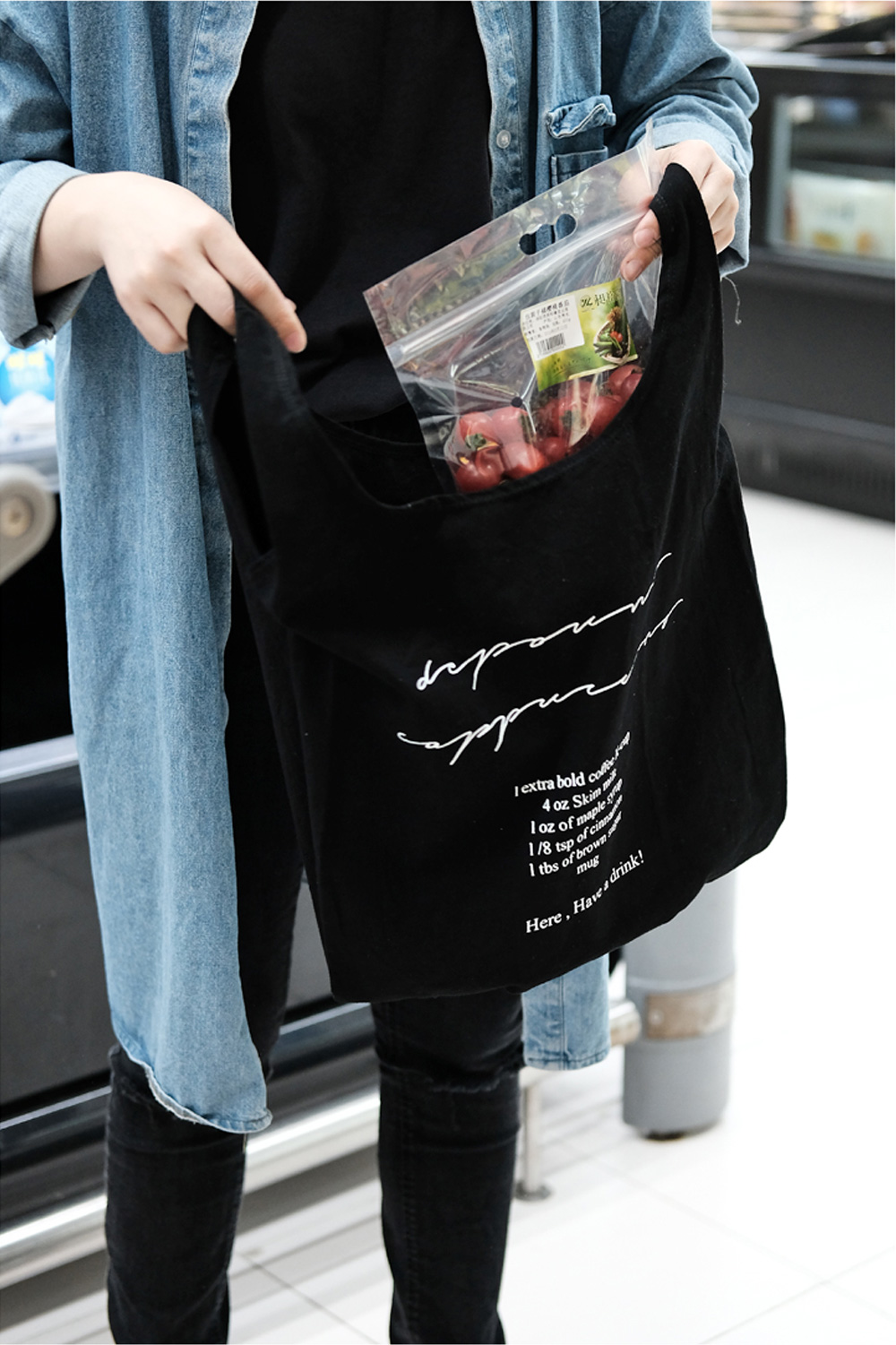 Canvas Tote Bag for Outdoors Shopping Portable and Large Capacity Mini Handbag Foldable Environment-friendly Canvas Bag 3