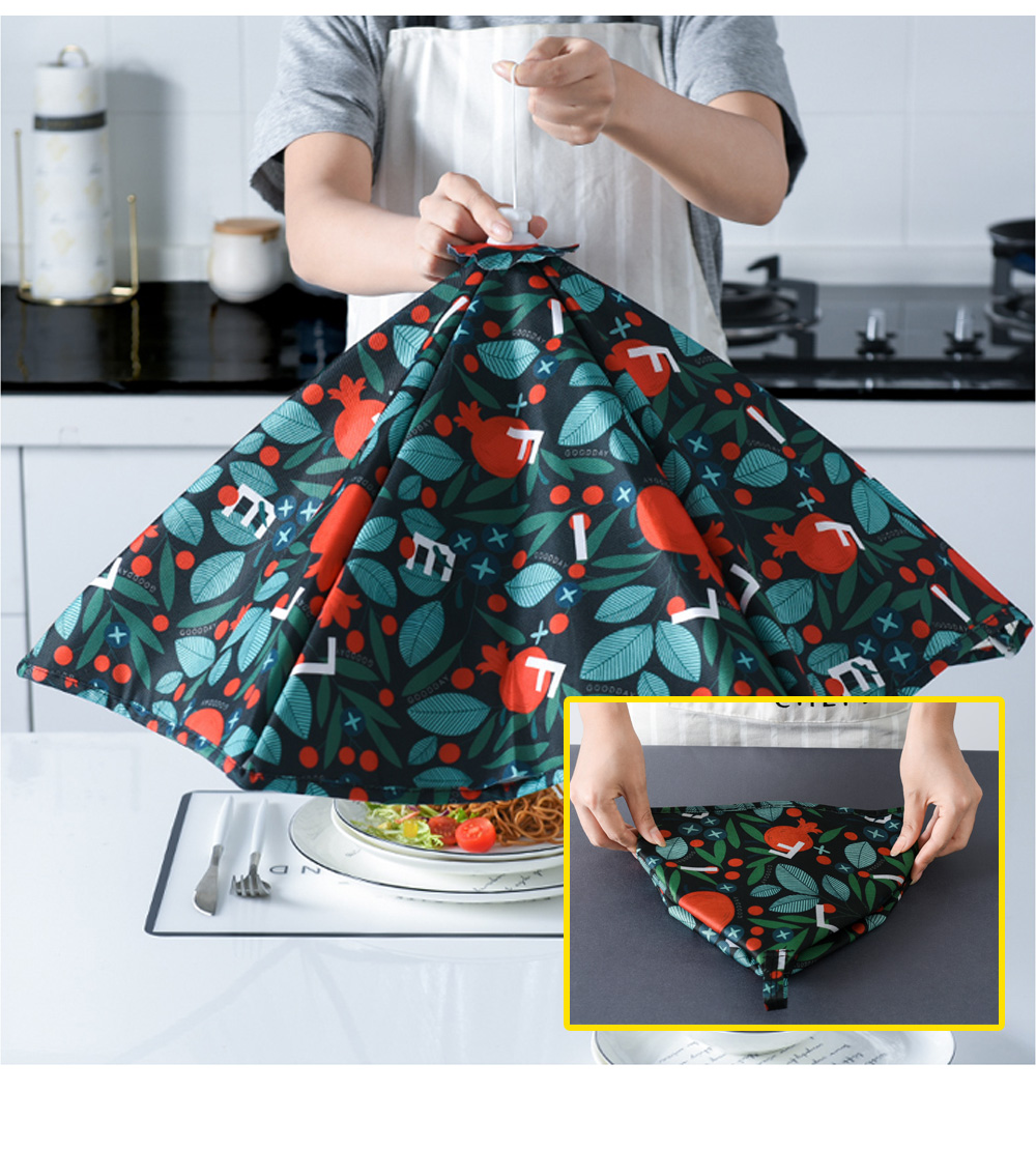 Nordic Style Keep Warm Food Cover for Family Use Dining Room Foldable Thermal Food Cover Anti-dust Table Cover 5