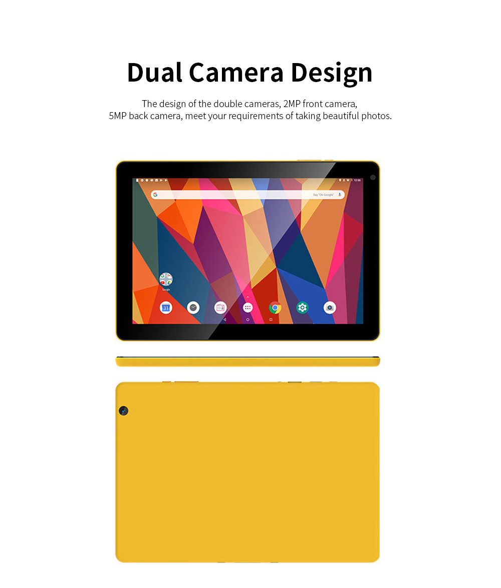 10.1 Inch Tablet PC Android 8.1 Dual Camera and USB 2GB RAM 16GB ROM Touchscreen Wifi Bluetooth Tablet with 6000mAh Battery 1