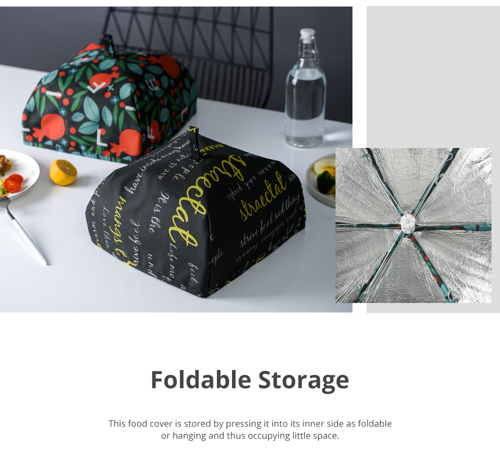 Nordic Style Keep Warm Food Cover for Family Use Dining Room Foldable Thermal Food Cover Anti-dust Table Cover 4