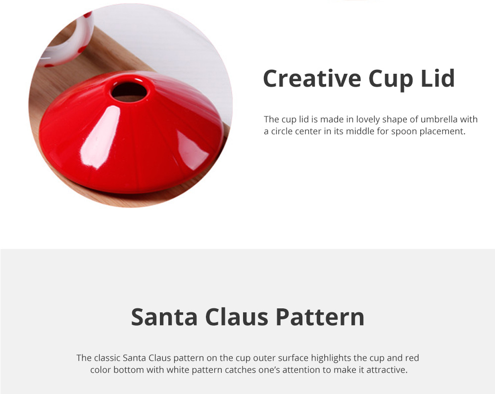 Santa Claus Ceramic Cup for Gifts Family Use Creative Mug with Spoon Easy to Clean and Safe Water Cup Christmas Gift 2